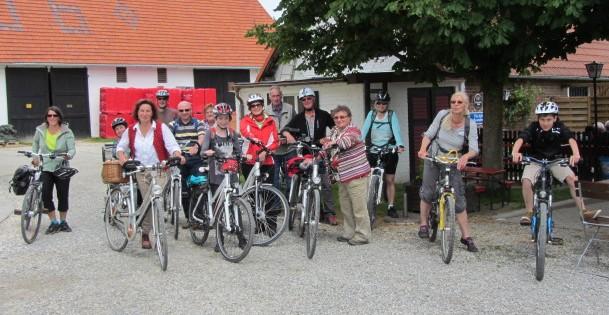 Eine tolle Tour durch das wunderschöne Glötttal von Holzheim nach Glöttweng unternahm diese Radgruppe